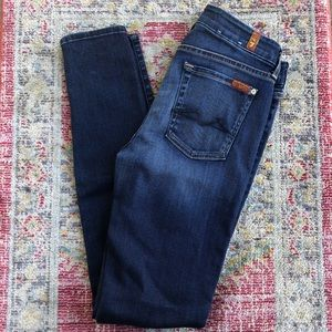 7 for all mankind mid rise skinny jeans size 27